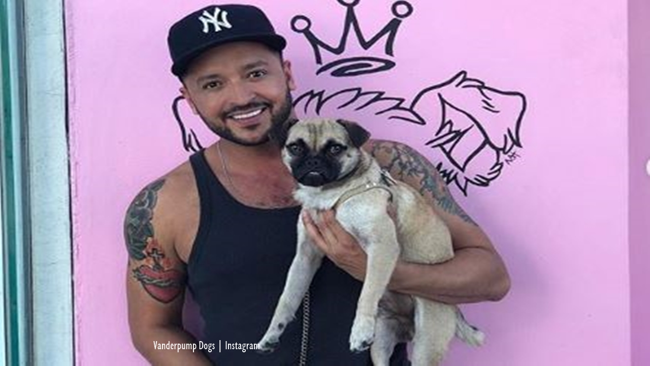 Jai Rodriguez adopts a dog rescued by The Pug Queen through Vanderpump Dogs