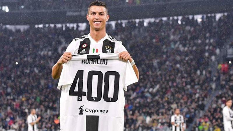 Juventus homenajea a Cristiano Ronaldo por sus 400 goles en ligas europeas