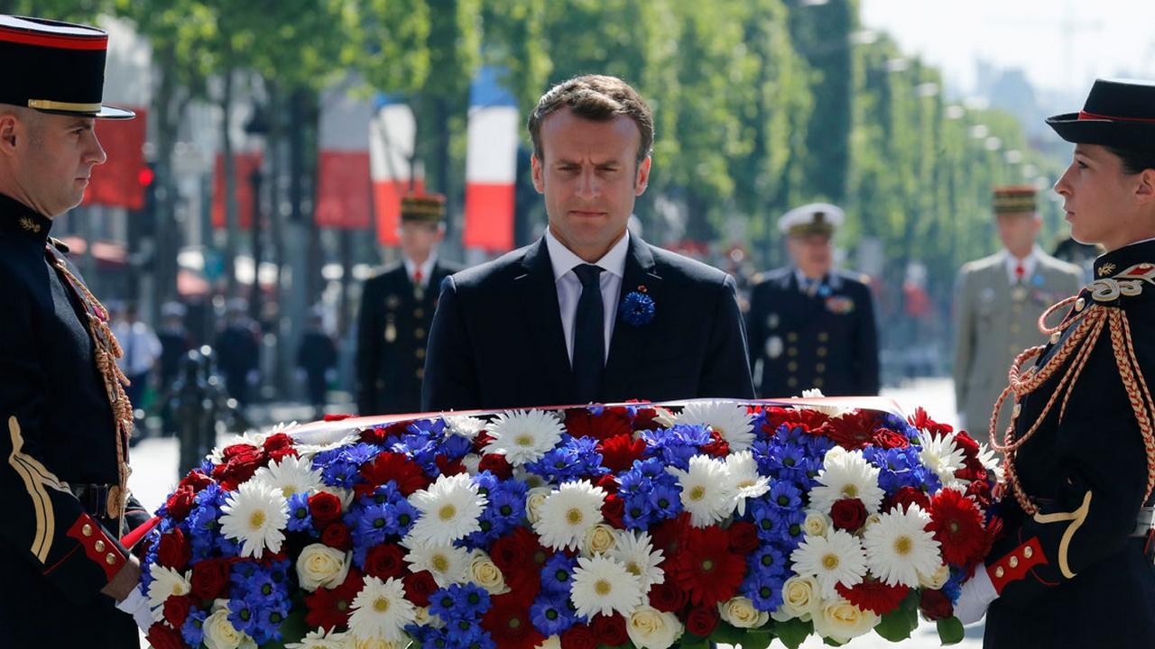 Emmanuel Macronsur les traces de la Grande guerre