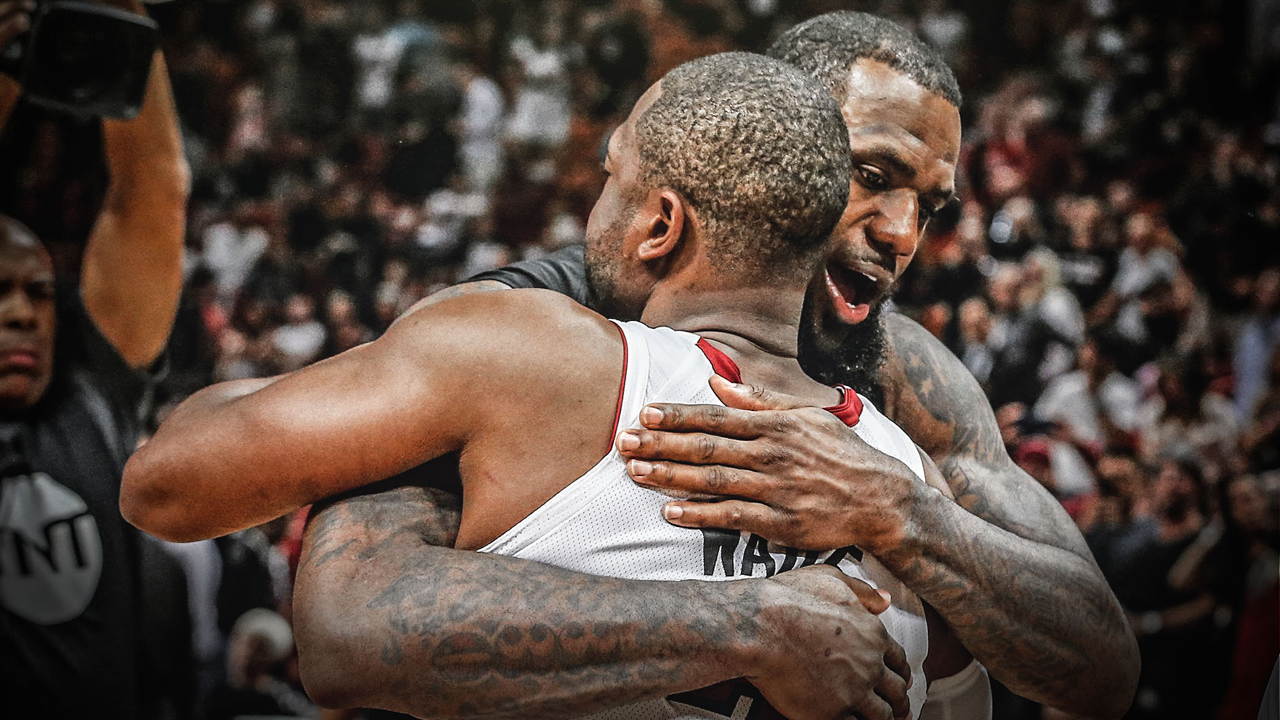 Dwyane reacts to his final game with LeBron James