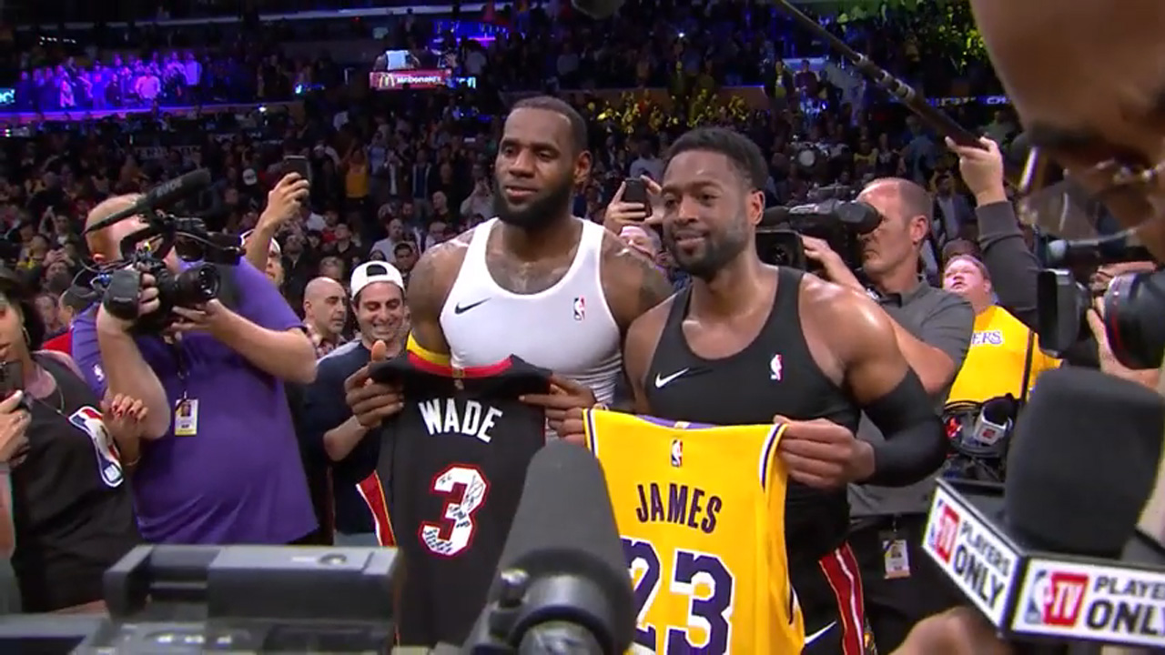 LeBron James and Dwyane Wade talk about their final game