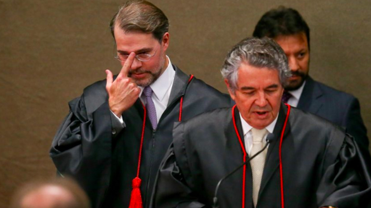 Desentendimento entre Toffoli e Marco Aurélio enfraquecem o STF
