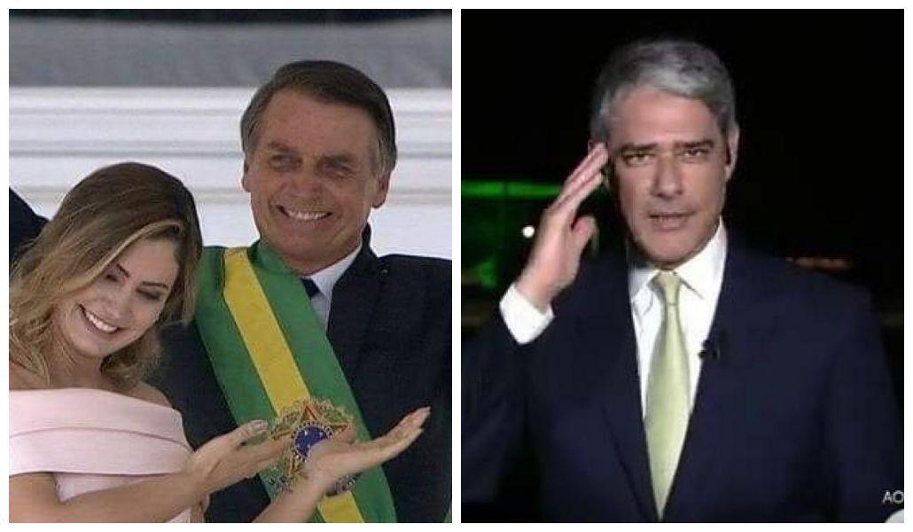William Bonner presta continência no JN e internautas veem ligação com Bolsonaro