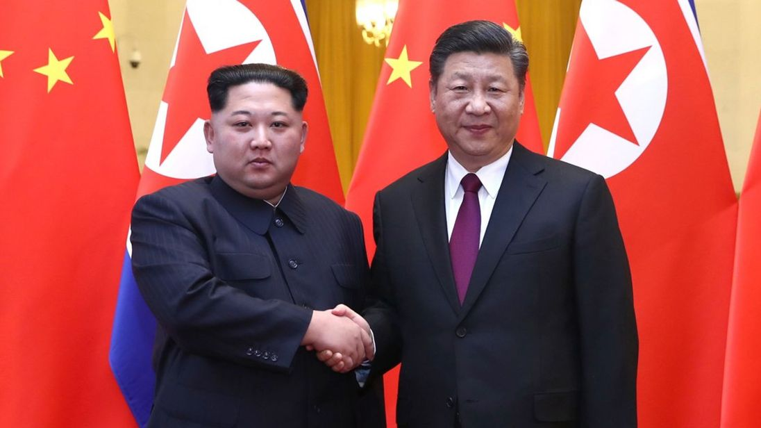 Kim Jong-un on his way back to Pyongyang after China visit