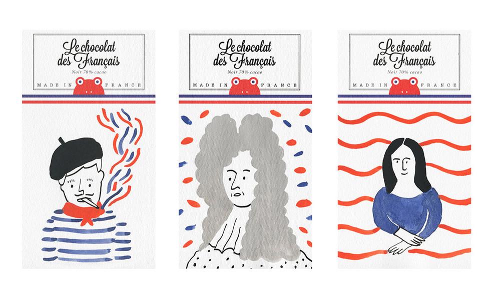 Le chocolat des Français : un emballage artistique