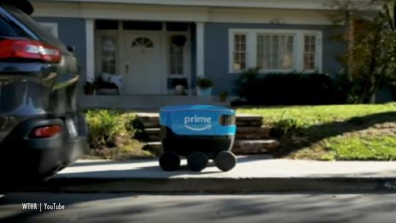 Amazon develops a robot to deliver items to customers