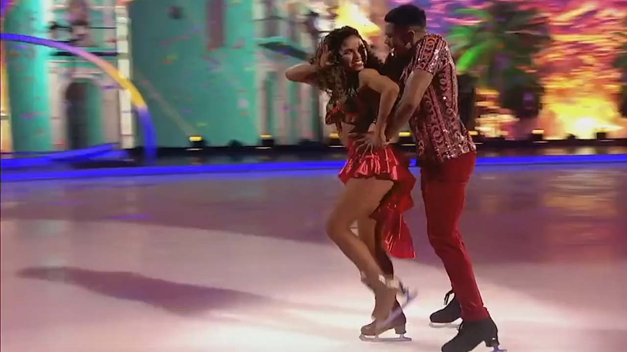 Dancing on Ice 2019: Wes and Vanessa almost melted the ice
