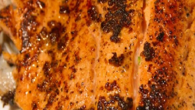 Recipe for blackened fish with lemon and butter sauce