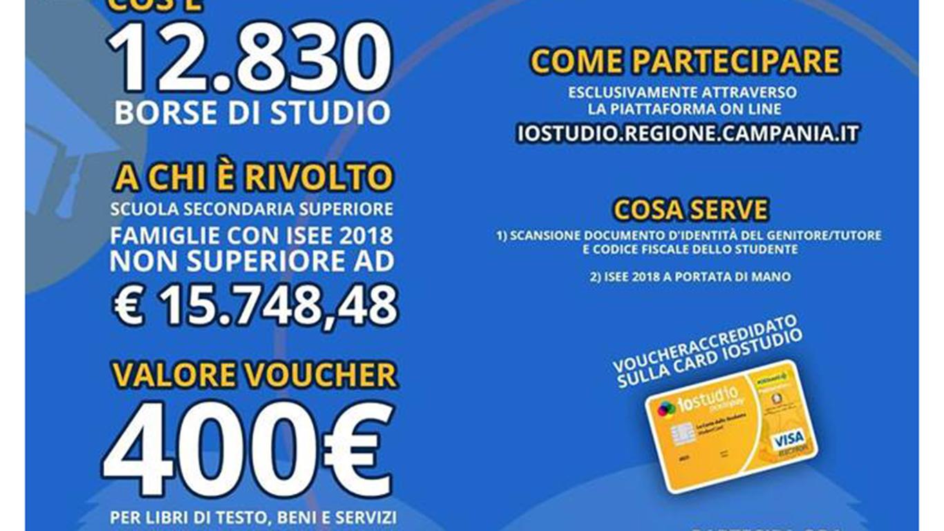 Sconto del 60% personalizzate come comprare Regione Campania, è possibile richiedere la borsa di studio del valore di  €400