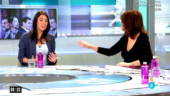 Ana Rosa Quintana e Irene Montero, debate por la huelga feminista del 8-M