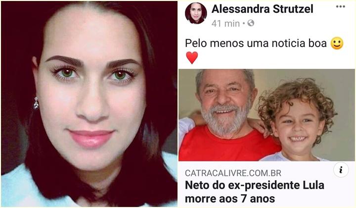 Blogueira é duramente criticada ao comemorar morte do neto de Lula