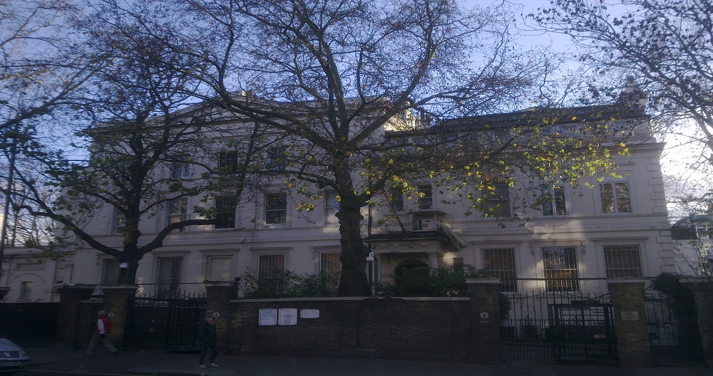 The Russian embassy showed an unusual activity