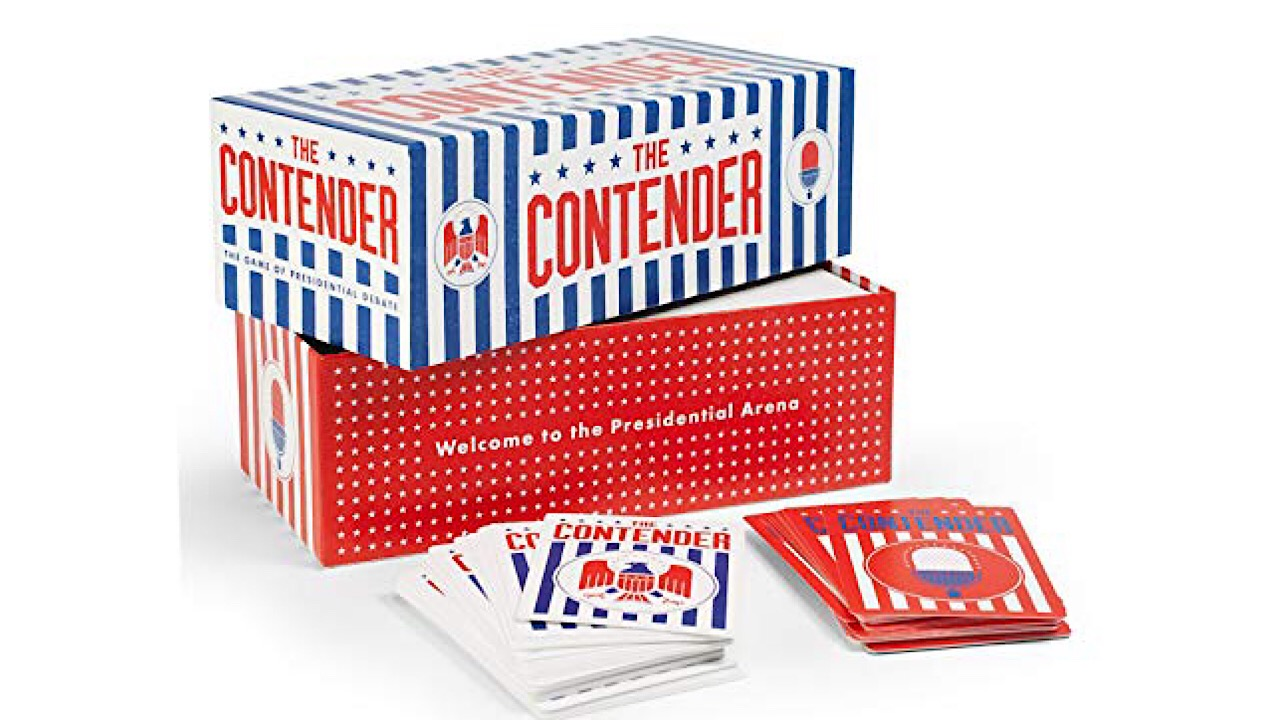 Images of the new card game titled 'The Contender'