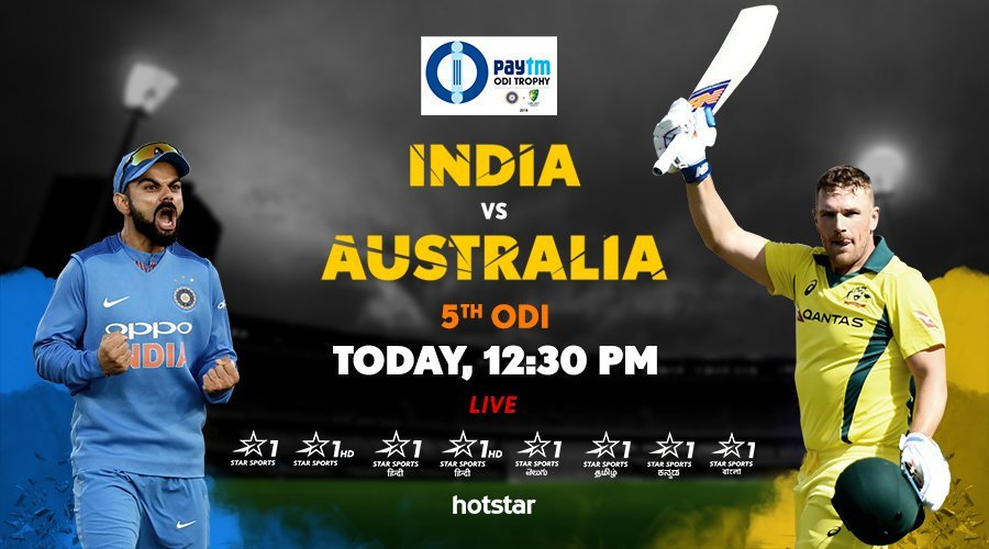 Star Sports live cricket streaming India vs Australia 5th ODI