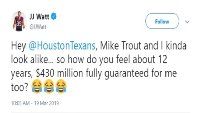 Social media has some serious reactions to the Mike Trout contract