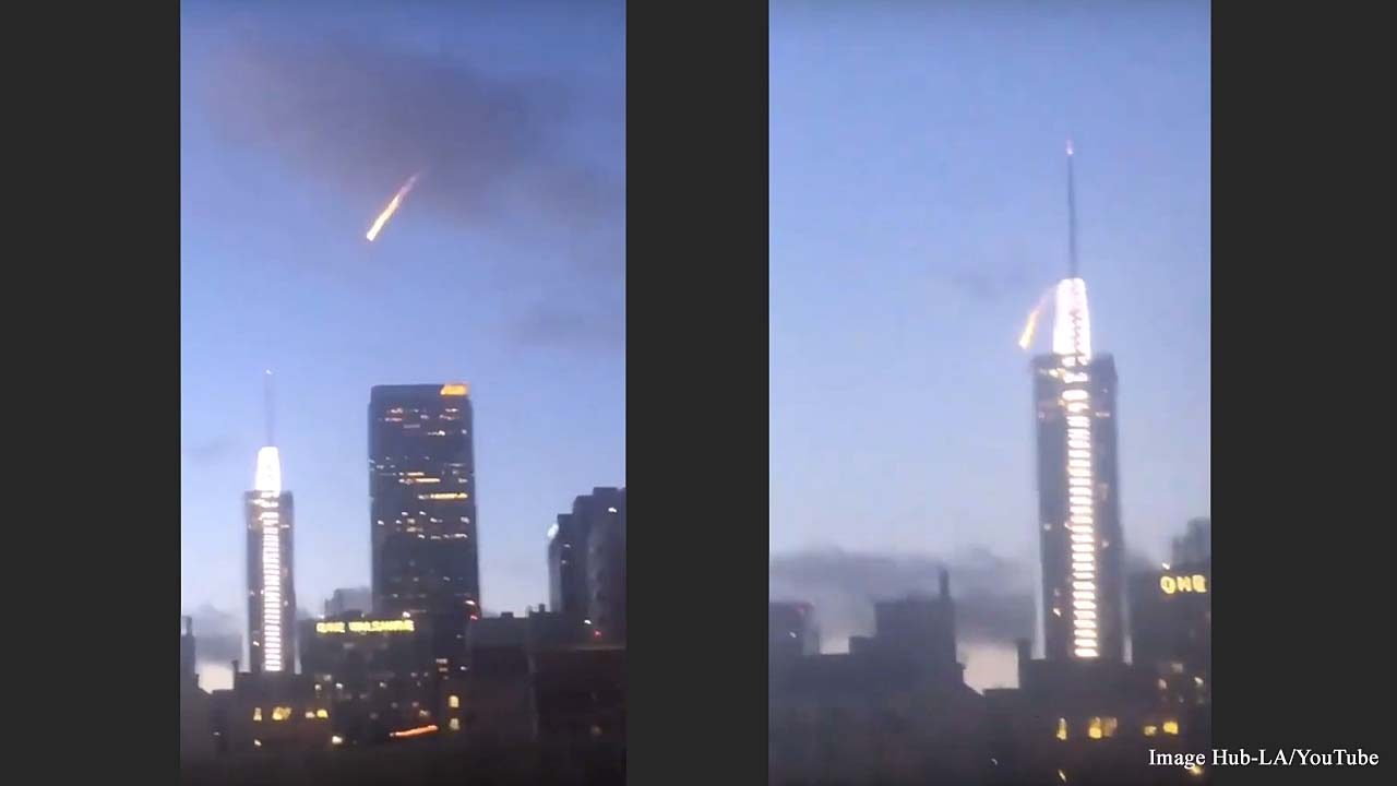 Fireball in Los Angeles skies was not a meteor or aliens