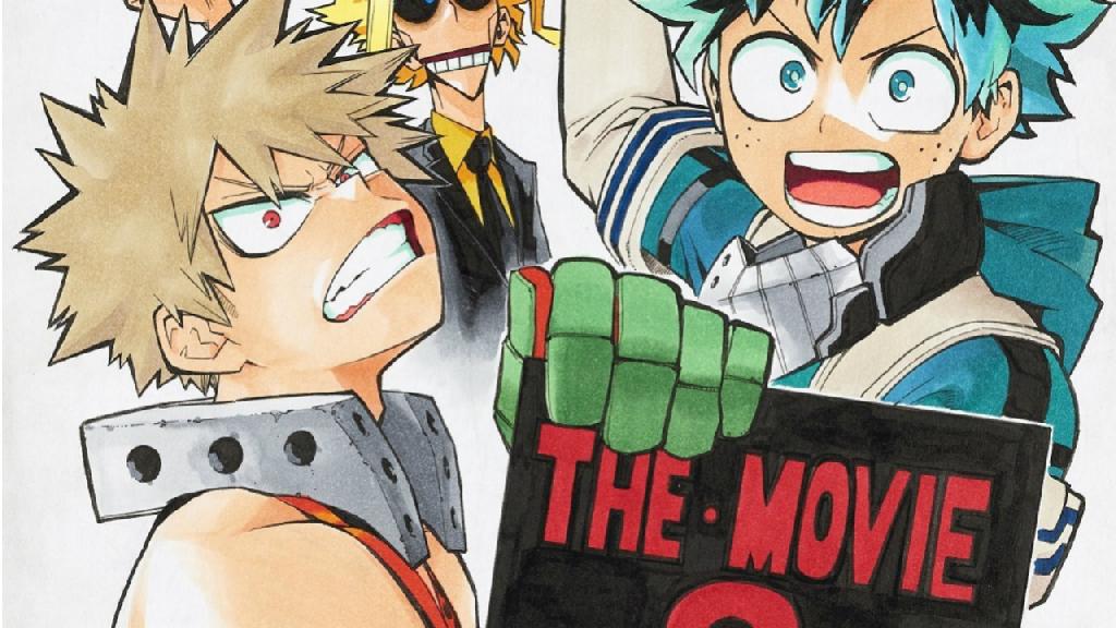 Horikoshi dibuja un boceto de Boku no Hero en celebración de la segunda película