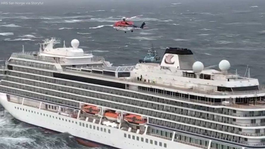 Navio que ficou à deriva tinha maioria de passageiros idosos, passageiros já estão a salvo