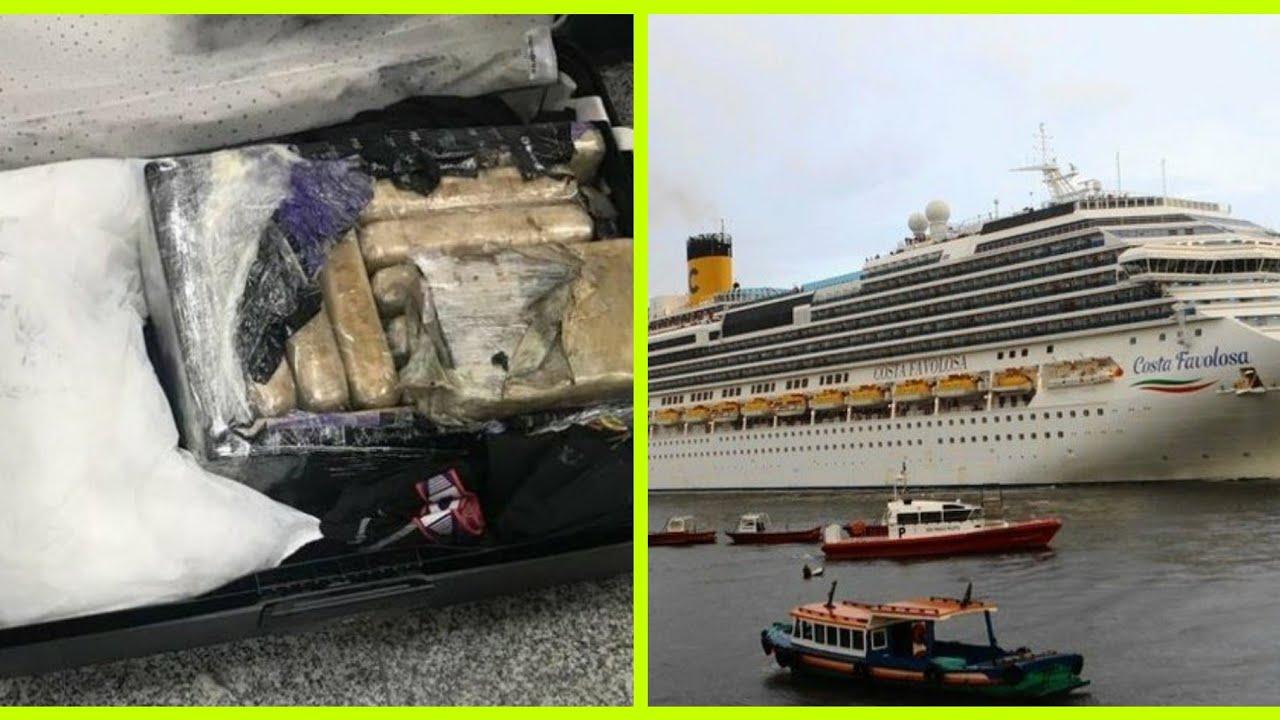 PF prende 16 passageiros com 300 kg de cocaína em cruzeiro de luxo