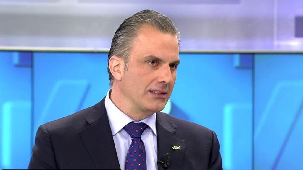 Ortega Smith enfadado porque los medios tilden de fascista a VOX