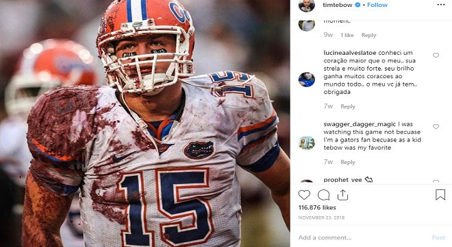 Ex quarterback Tim Tebow talks about the New England Patriots