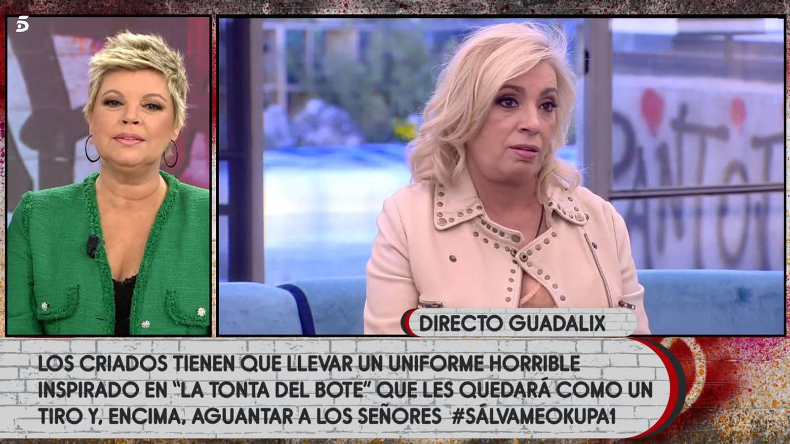 Por una prueba en la Casa, Carmen Borrego se enfrenta a Terelu: 'Que me dejes, tía'