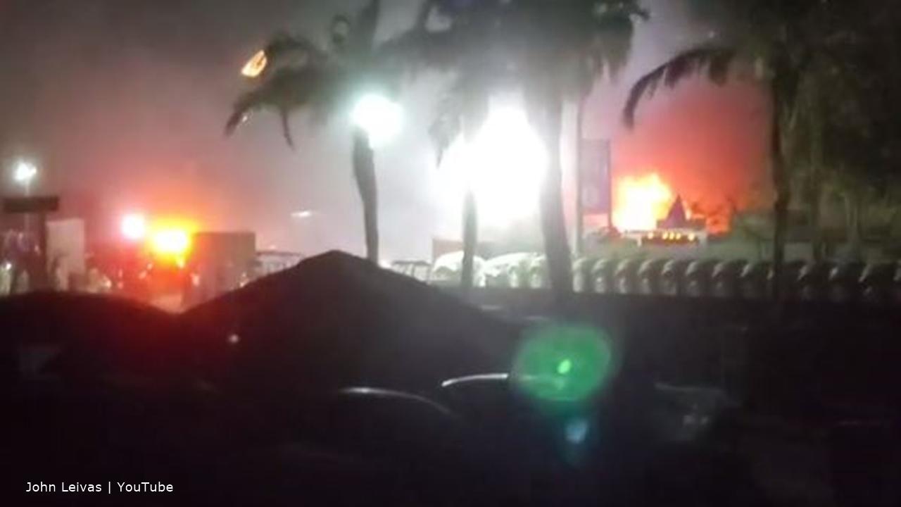 California's Coachella music festival's campsite's the scene of an explosion and fire