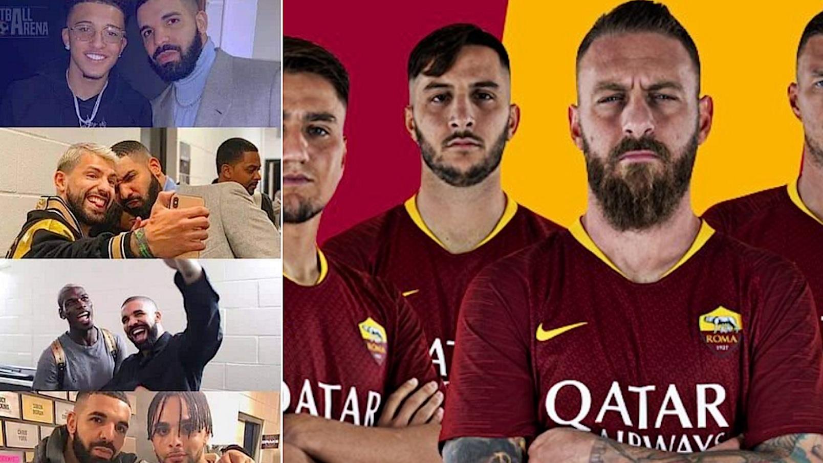 La Roma invita i calciatori a non fare foto con Drake