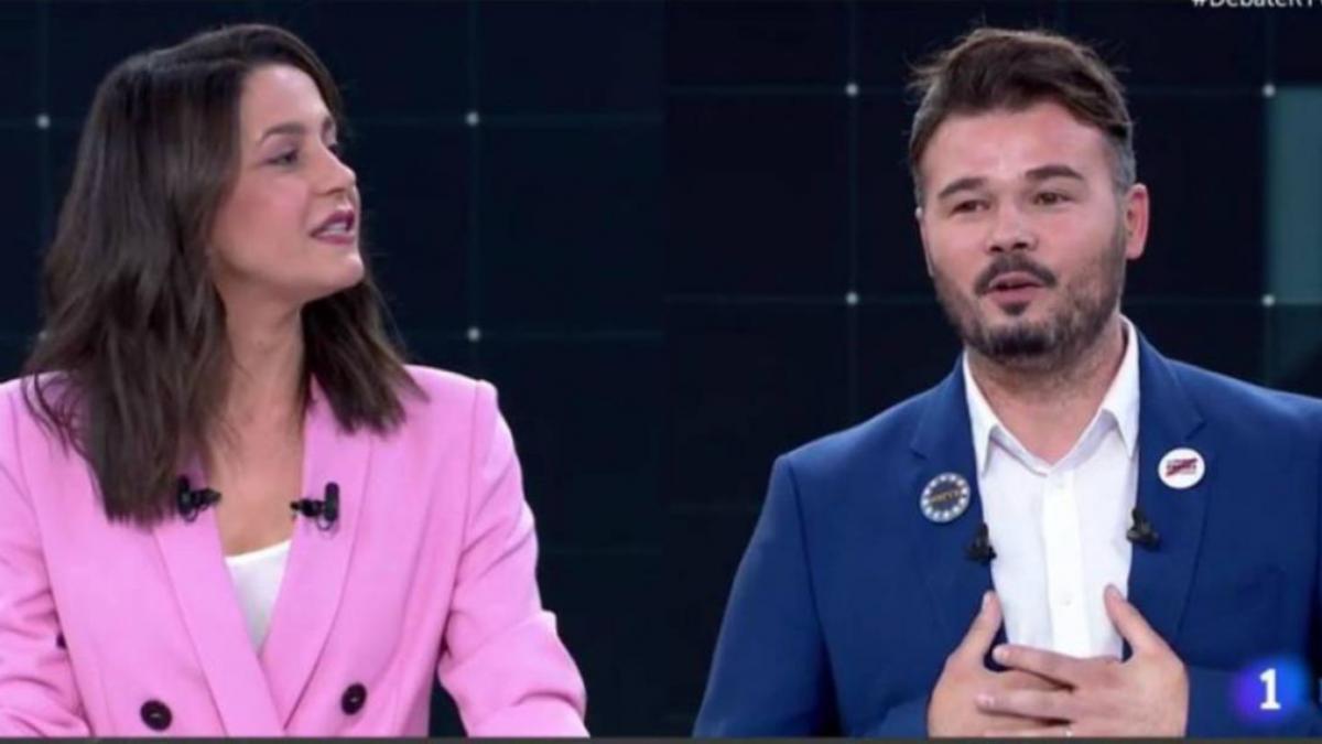 Las redes llaman 'macarra' a Inés Arrimadas por llamar 'chaval' a Gabriel Rufián