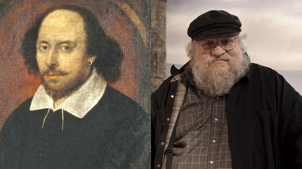 William Shakespeare y George R.R. Martin creador de 'Juego de Tronos' están relacionados