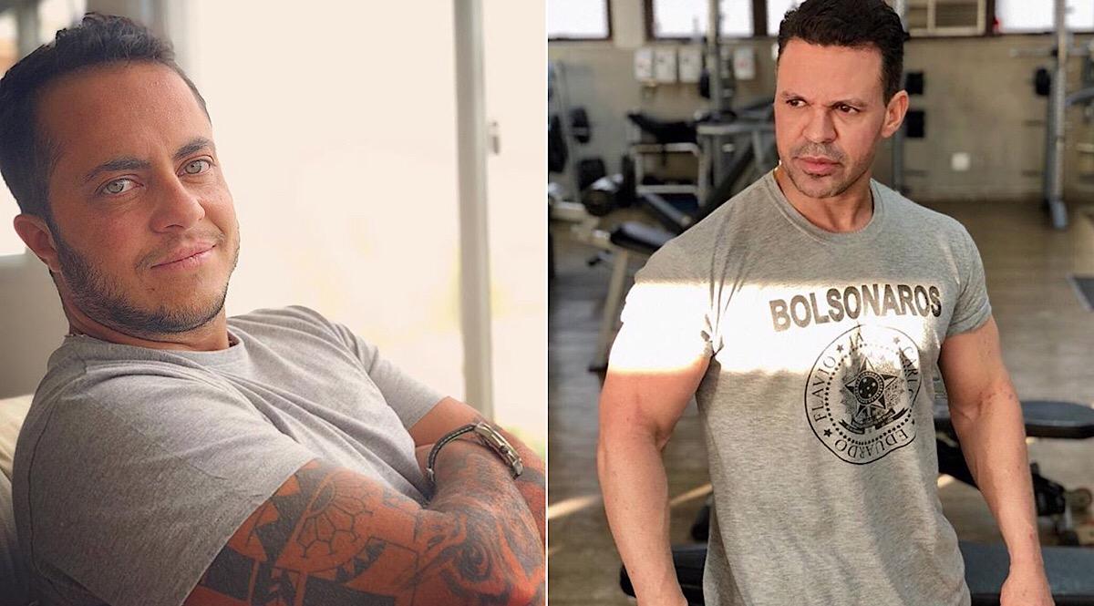 Thammy posa com camisa aberta e Eduardo Costa faz comparação entre os dois