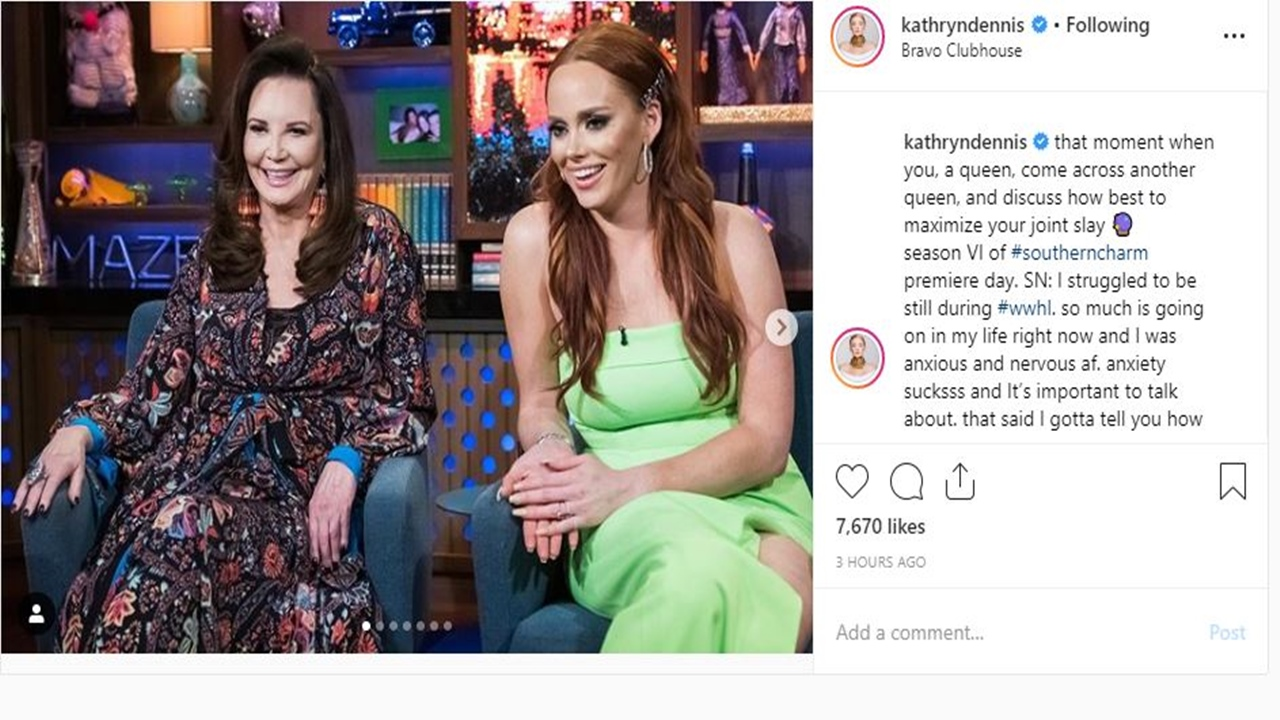'Southern Charm': Kathryn Dennis on 'WWHL' clearly nervous and anxious but remains classy