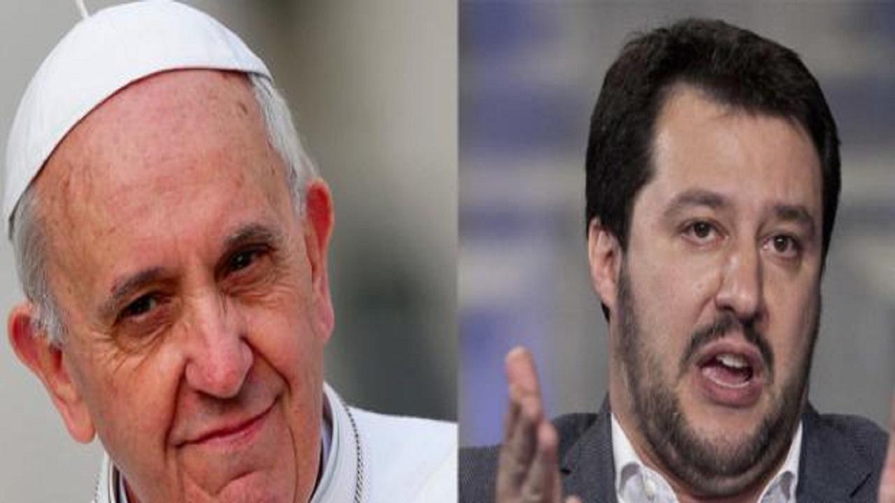 Salvini risponde a Papa Francesco: 'Meno morti nel Mediterraneo? Li stiamo azzerando'
