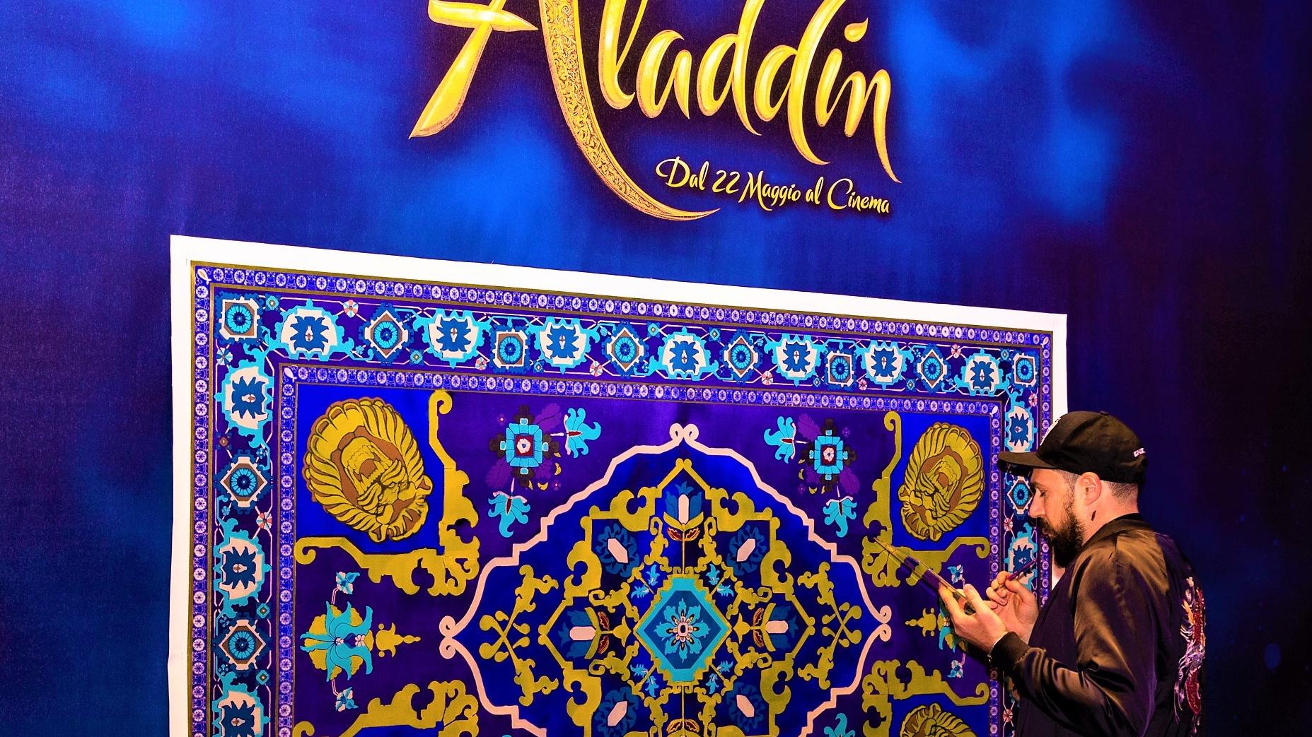 Matteo Mariani, in arte Koi, rende un omaggio artistico al live action 'Aladdin'