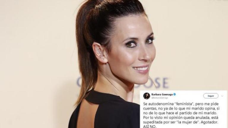 Tras discutir con una feminista radical, Bárbara Goenaga abandona Twitter