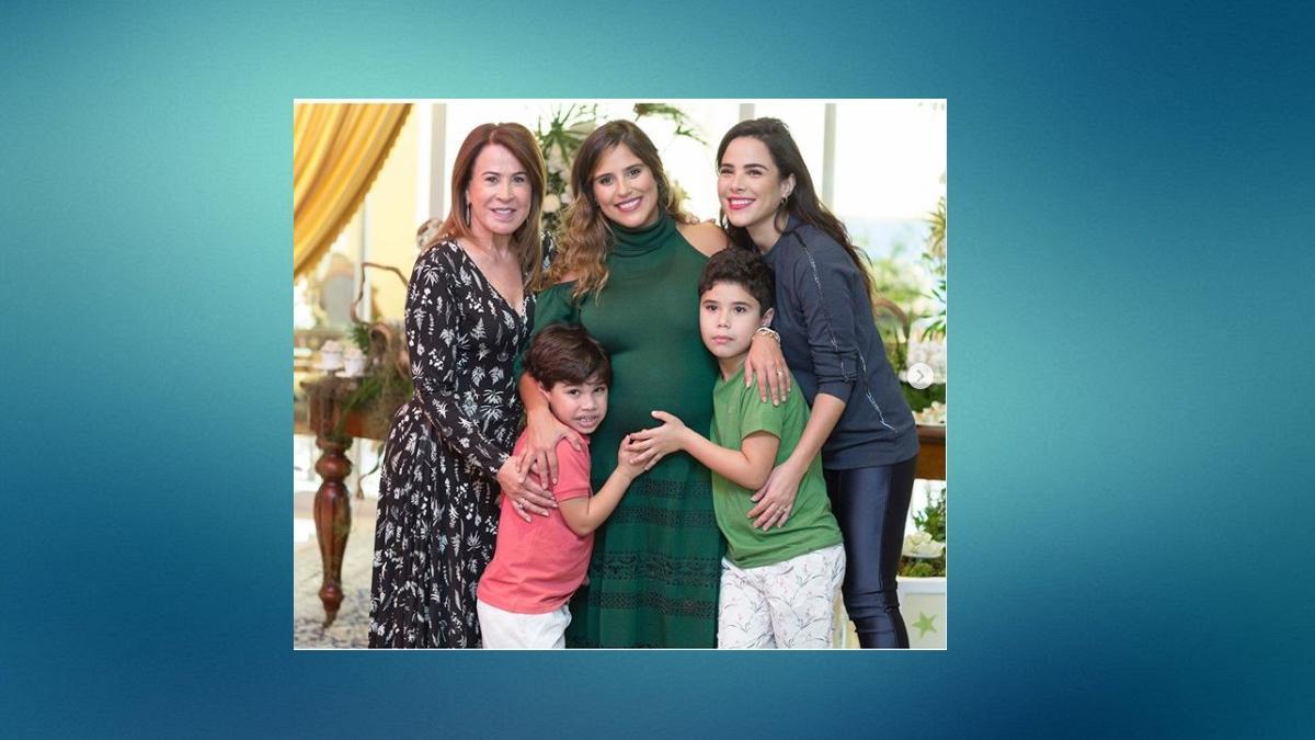 Zilu registra nos Stories como foi o chá de bebê de Camila Camargo