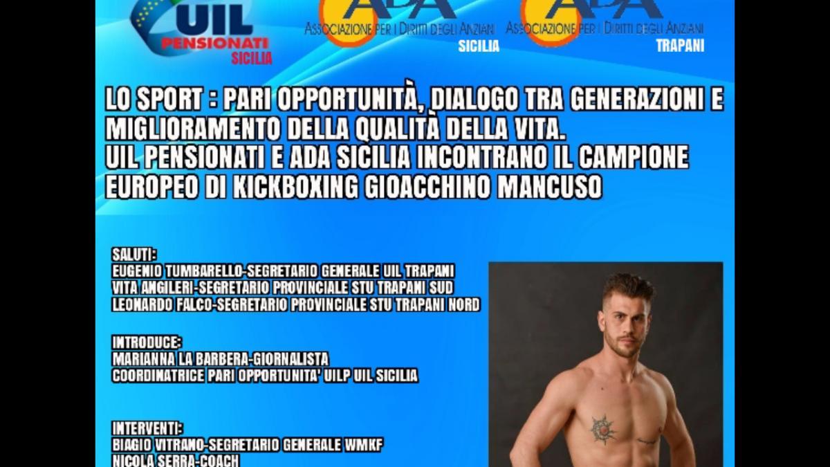 Ospite della sede della UIL il campione europeo di kickboxing, Gioacchino Mancuso