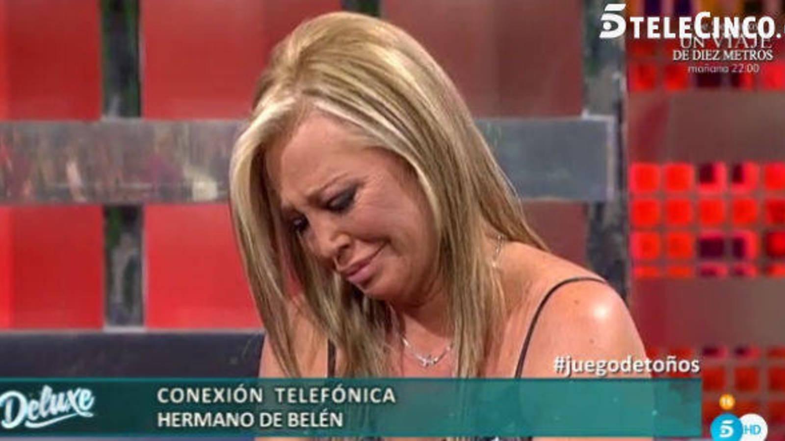 La confesión de su hermano confirmando el abandono de su padre, deja rota a Belén Esteban