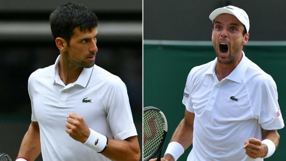 La semifinal del torneo de Winbledon será entre Roberto Bautista y Novak Djokovic