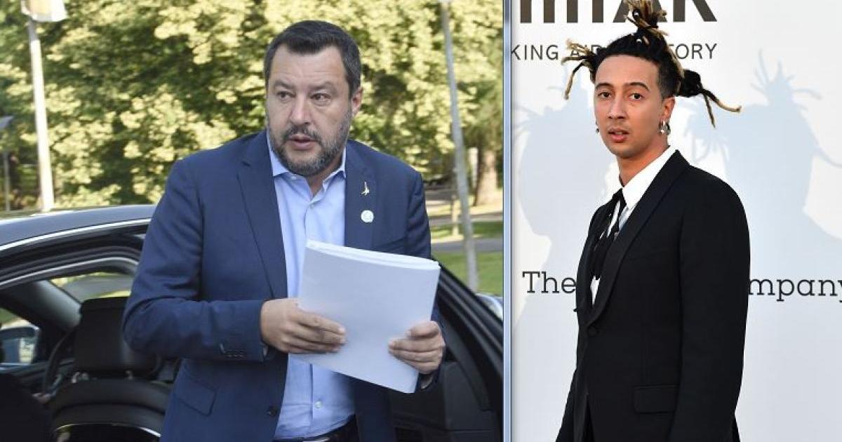 Ghali chiama Salvini 'fascista' in un verso, il vicepremier: 'Però la sua musica mi piace'