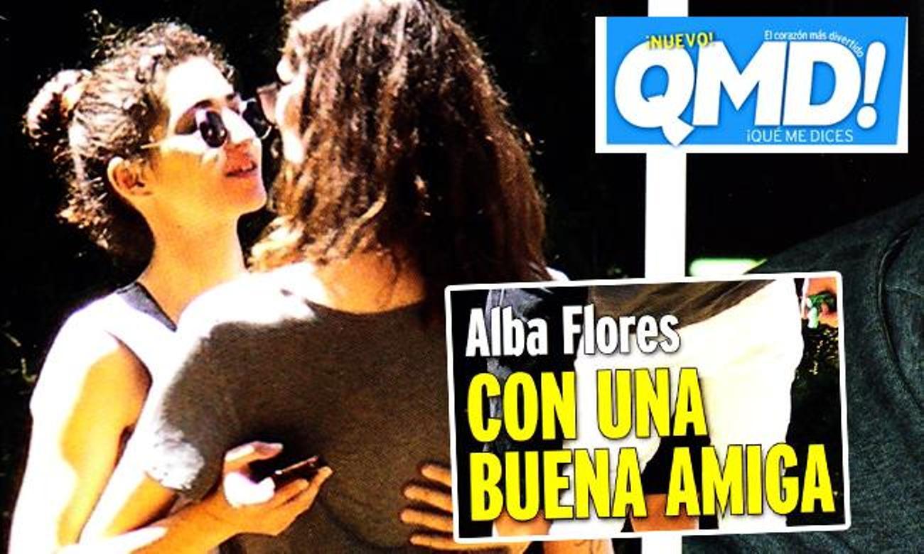 Alba Flores se besa con una mujer y QMD! lo tacha como una 'buena amiga'