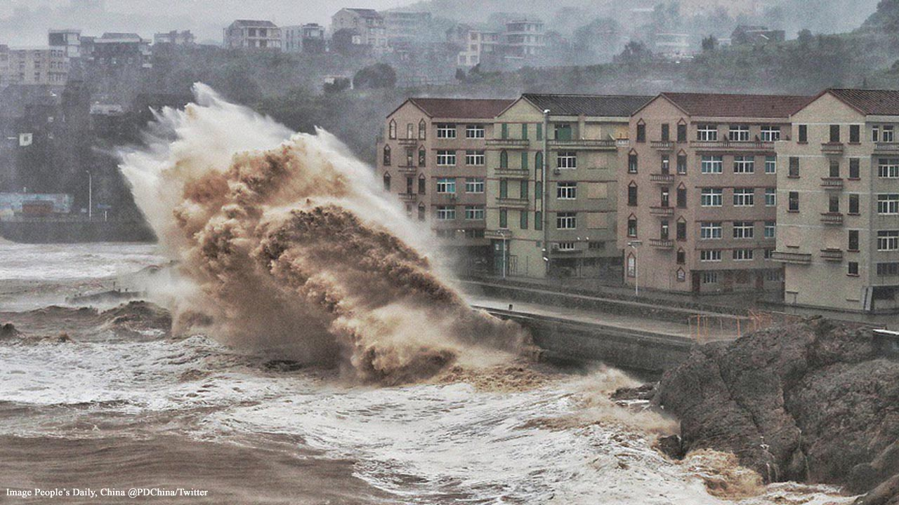 China: 13 dead and 16 missing as Typhoon Lekima hits the east coast