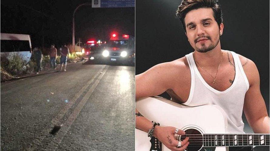 Caminhonete com Luan Santana e equipe se envolve em acidente em Mato Grosso