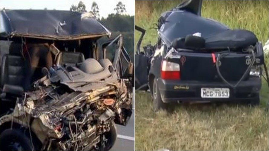 Carro bate de frente com van que levava banda Sampa Crew e uma pessoa morre