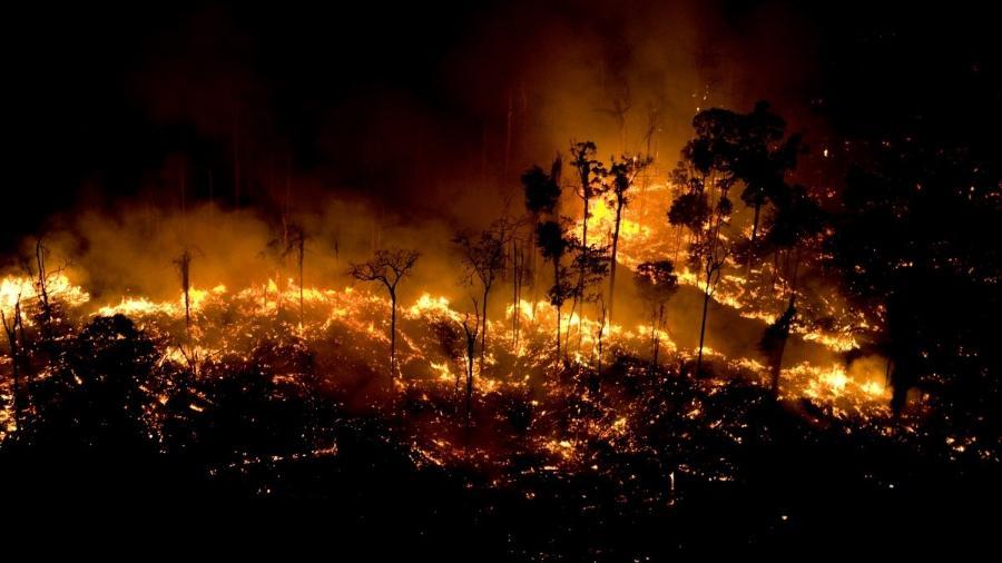 Bolsonaro diz que incêndios na Amazônia podem ter sido iniciados por ONGs