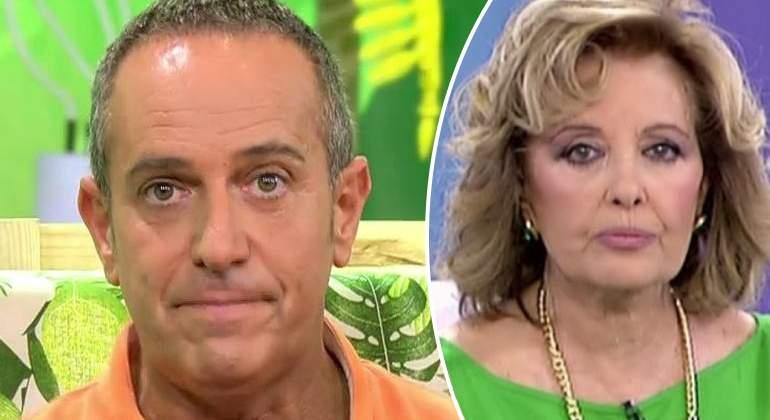 Víctor Sandoval acusa a María Teresa Campos de echarlo del plató de mala manera