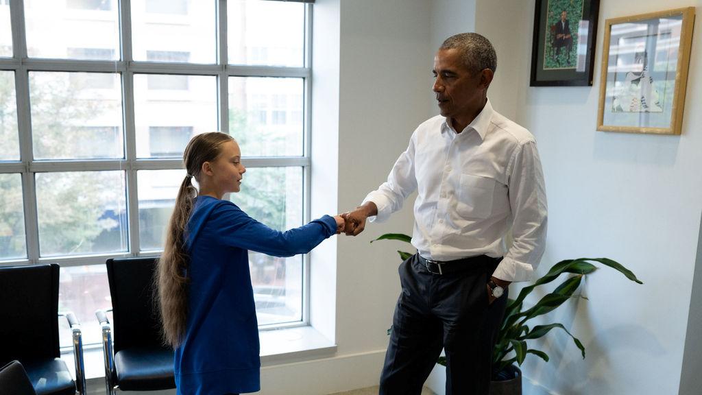 Obama se une a Greta Thunberg en la lucha por la defensa del medio ambiente